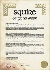 certificate squire of glens wood